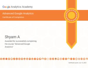 Shyam Google cert